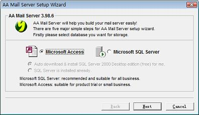 Introduction about the Installation of AA Mail Server