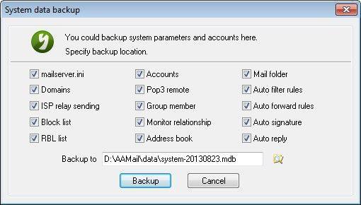 System Data Backup