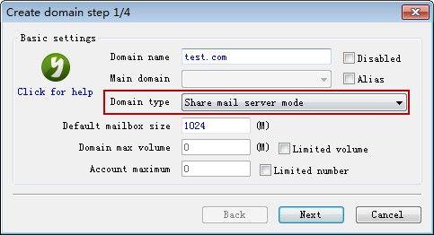 Share Mail Server Mode