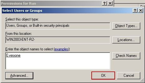 Select Users or Groups