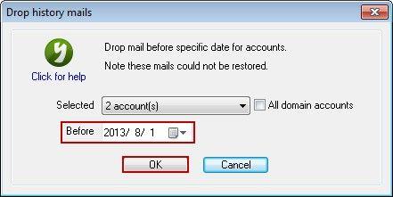 Drop History Mails