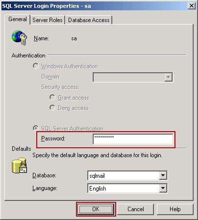 SQL Server Login Properties