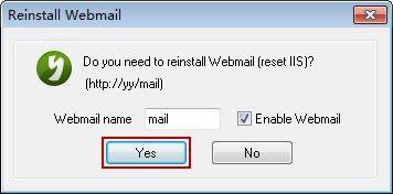Reinstall Webmail