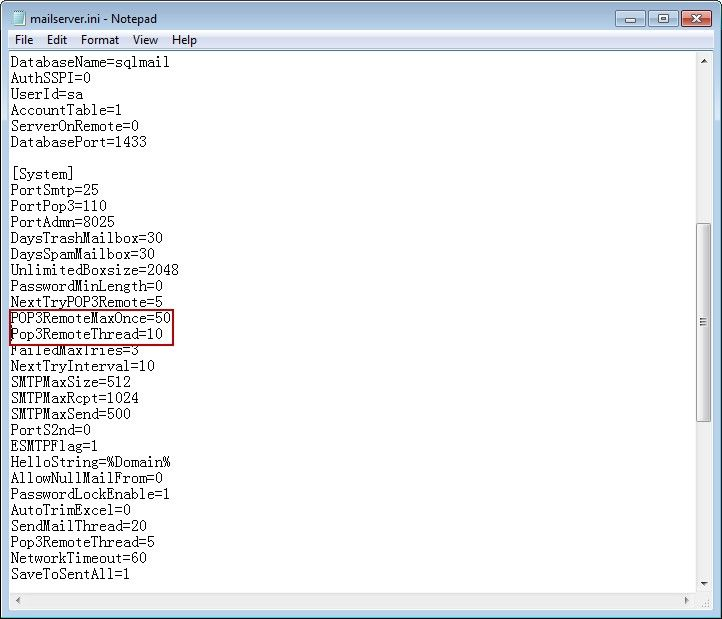 AAMail Configuration File