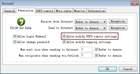 Allow Modify POP3
