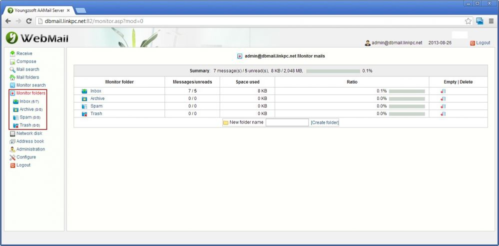 Monitor Folder List
