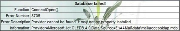Database Failed