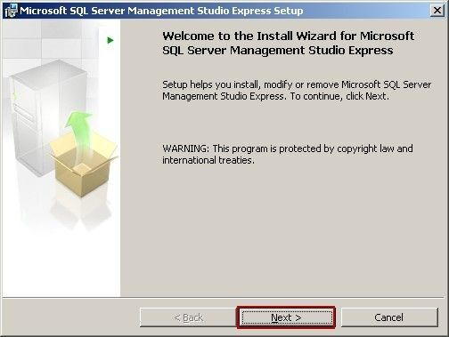 Microsoft SQL Server Management Studio Express Setup