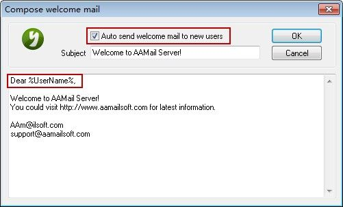 Compose Welcome Mail