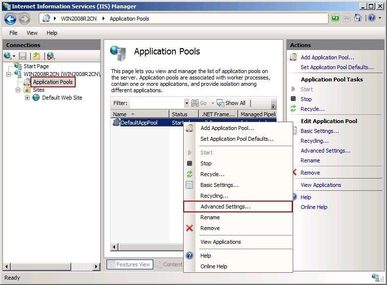 Application Pools